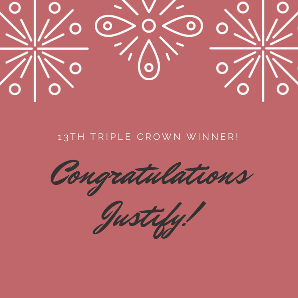 Justify Is Our 13th Triple Crown Winner! 1