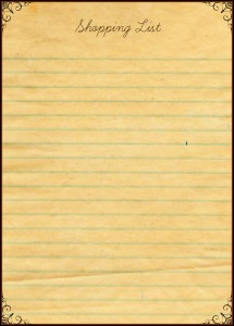 Free Shopping List download for Readers!